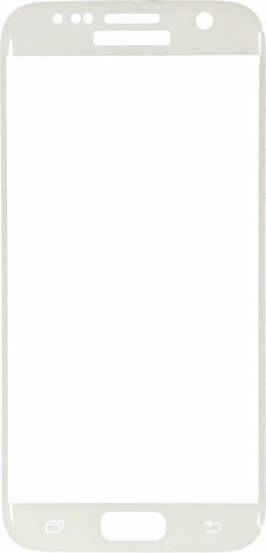 Защитное стекло Glass PRO (Full) Screen для Samsung Galaxy S7 (SM-G930) цветное белая рамка