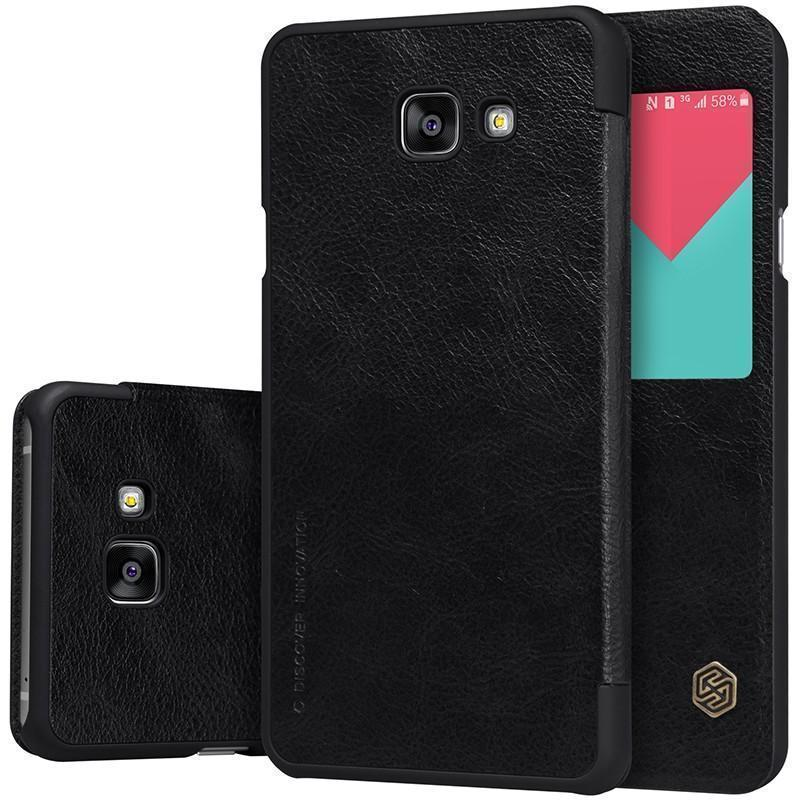 Чехол-книжка Nillkin QIN Leather Case для Samsung Galaxy A7 (2016) SM-A710 натуральная кожа черныйдля Samsung<br>Чехол-книжка Nillkin QIN Leather Case для Samsung Galaxy A7 (2016) SM-A710 натуральная кожа черный<br>