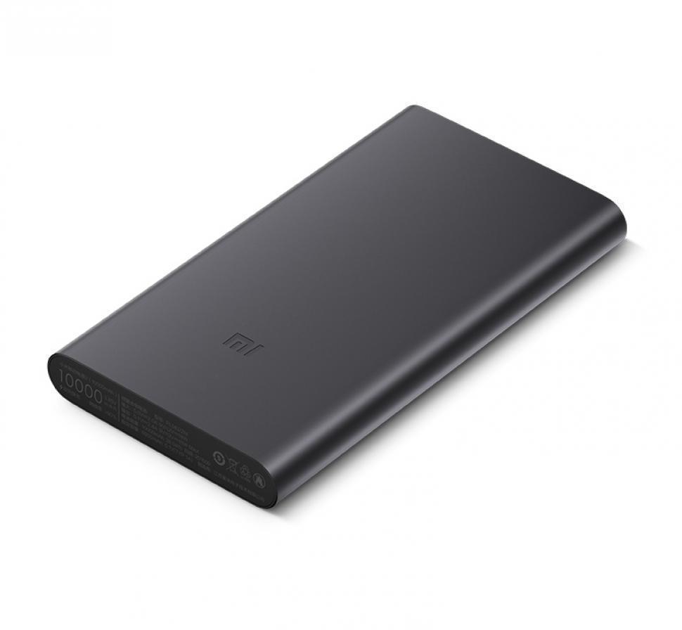 Универсальный внешний аккумулятор Xiaomi Mi Power Bank 2i 10000 mAh, 2.4 А, USBx2 металл Black