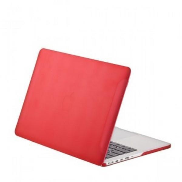 Чехол-накладка BTA-Workshop для Apple MacBook Pro 13 матовая прозрачно-краснаядля Apple MacBook Pro 13<br>Чехол-накладка BTA-Workshop для Apple MacBook Pro 13 матовая прозрачно-красная<br>