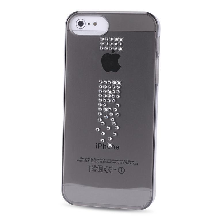 Чехол-накладка Puro Crystal Swarovski для Apple iPhone SE/5S/5 Cascade (черный) фото