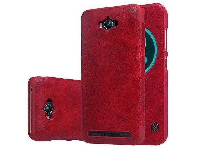 Чехол-книжка Nillkin QIN Leather Case для Asus Zenfone Max (ZC550KL) натуральная кожа (красный)для ASUS<br>Чехол-книжка Nillkin QIN Leather Case для Asus Zenfone Max (ZC550KL) натуральная кожа (красный)<br>