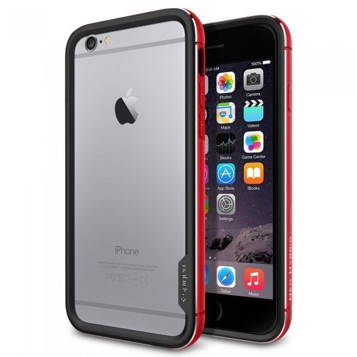 Чехол-бампер Spigen Neo Hybrid EX Metal для Apple iPhone 6/6S Metal Red (SGP11189)