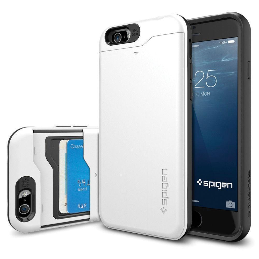 Чехол-накладка Spigen Slim Armor CS для Apple iPhone 6/6S пластик-резина Shimmery White (SGP10965)для iPhone 6/6S<br>Чехол-накладка Spigen Slim Armor CS для Apple iPhone 6/6S пластик-резина Shimmery White (SGP10965)<br>