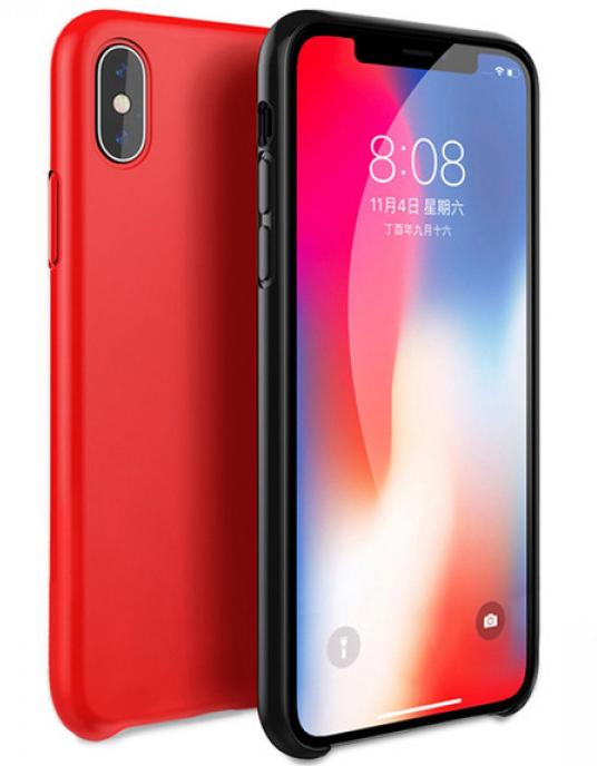 Чехол-накладка Silicone Case Series для Apple iPhone X/Xs (красный) фото