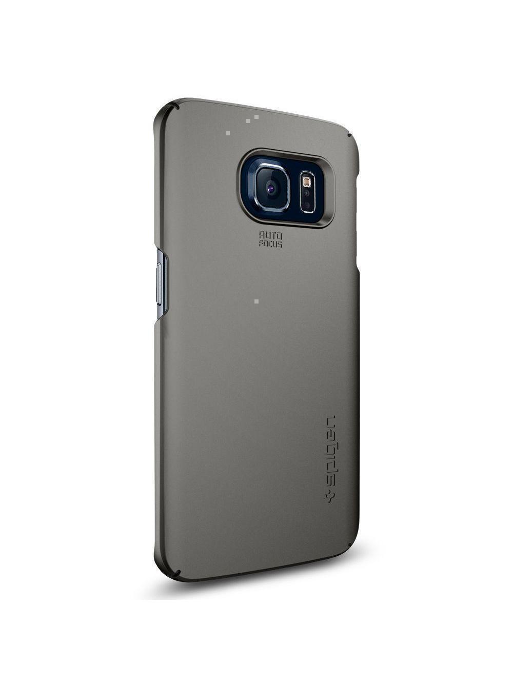 Купить Чехол-накладка Spigen SGP11564 Thin Fit для Samsung Galaxy S6 Edge (Gunmetal)