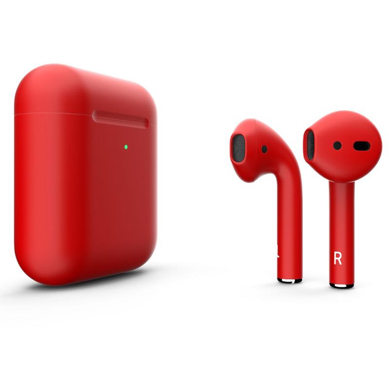Беспроводная гарнитура Apple AirPods 2 (Matte Red)