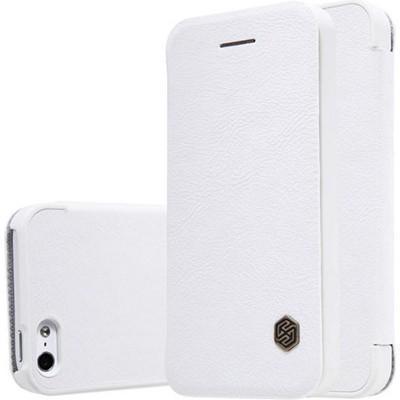 Чехол-книжка Nillkin QIN Leather Case для Apple iPhone SE/5S/5 натуральная кожа белыйдля iPhone 5/5S/SE<br>Чехол-книжка Nillkin QIN Leather Case для Apple iPhone SE/5S/5 натуральная кожа белый<br>
