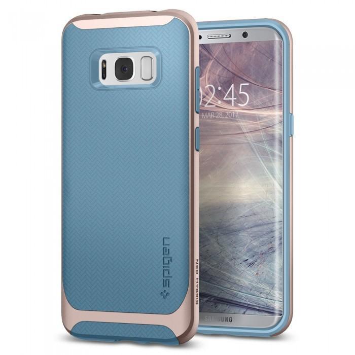 Чехол-накладка Spigen Neo Hybrid для Samsung Galaxy S8+ светло-голубой (SGP 571CS21647)для Samsung<br>Чехол-накладка Spigen Neo Hybrid для Samsung Galaxy S8+ светло-голубой (SGP 571CS21647)<br>