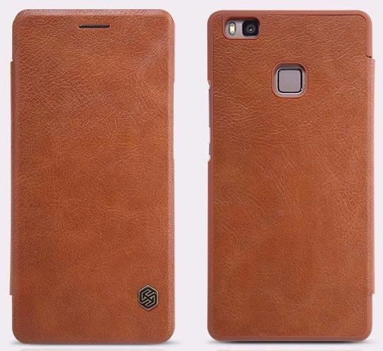 Чехол-книжка Nillkin QIN Leather Case для Huawei P9 Lite натуральная кожа (коричневый)для Huawei<br>Чехол-книжка Nillkin QIN Leather Case для Huawei P9 Lite натуральная кожа (коричневый)<br>