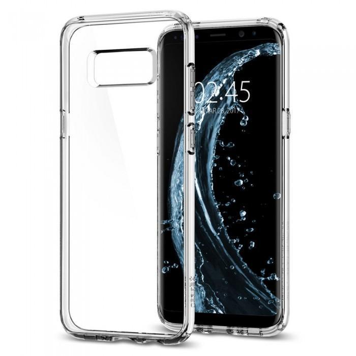 Чехол-накладка Spigen Ultra Hybrid для Samsung Galaxy S8+кристально-прозрачный (SGP 571CS21683)для Samsung<br>Чехол-накладка Spigen Ultra Hybrid для Samsung Galaxy S8+ кристально-прозрачный (SGP 571CS21683)<br>
