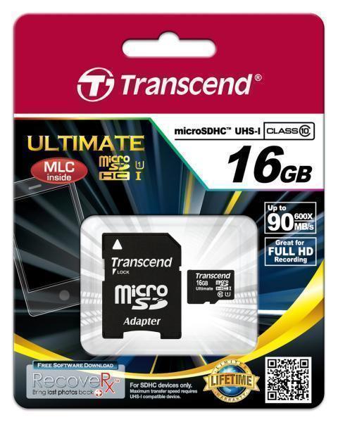 Карта памяти Transcend microSDHC Class10 UHS-I 95MB/s 16GB (TS16GUSDHC10U1)microSD<br>Карта памяти Transcend microSDHC Class10 UHS-I 95MB/s 16GB (TS16GUSDHC10U1)<br>