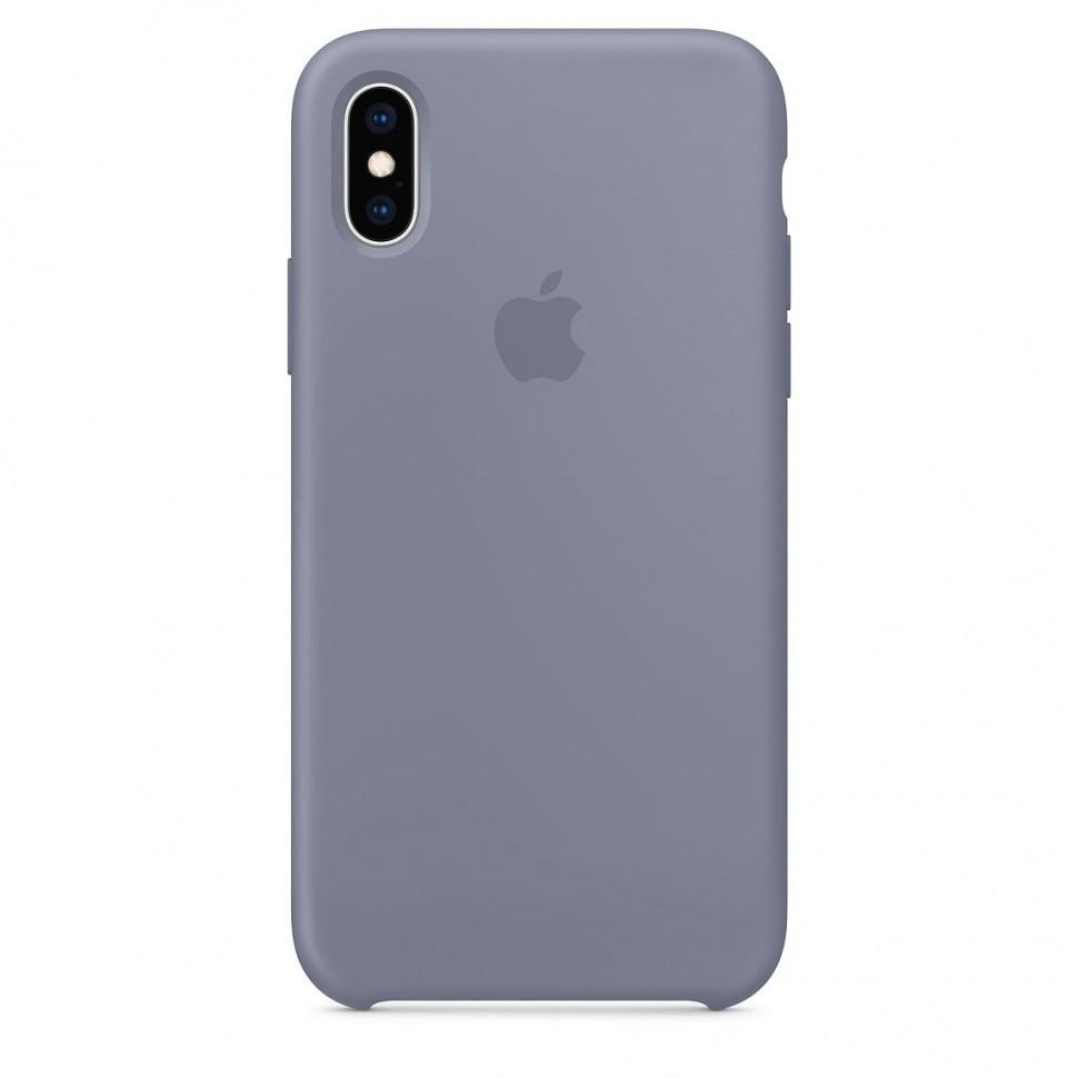 Купить Чехол-накладка Silicone Case для Apple iPhone Xs Max силиконовый (серый)