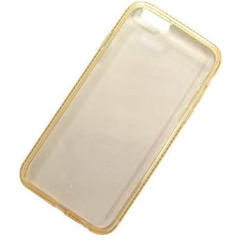 Купить Чехол-накладка Double Color Series для Apple iPhone 6/6S силиконовый стразы 3D (вид 1) прозрачный