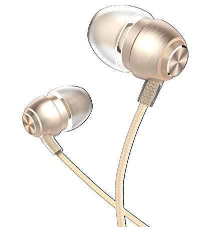 Проводная стерео-гарнитура Devia Metal In-Ear Earphone (с пультом и микрофоном) (Gold) фото