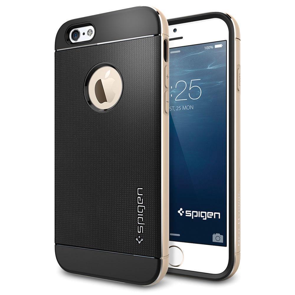 Чехол-накладка Spigen Neo Hybrid Metal для Apple iPhone 6/6S Champagne Gold (SGP11038)для iPhone 6/6S<br>Чехол-накладка Spigen Neo Hybrid Metal для Apple iPhone 6/6S Champagne Gold (SGP11038)<br>