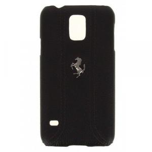 Чехол-накладка Ferrari FF-Collection Hard для Samsung Galaxy S5 (SM-G900) натуральная кожа (черный) фото