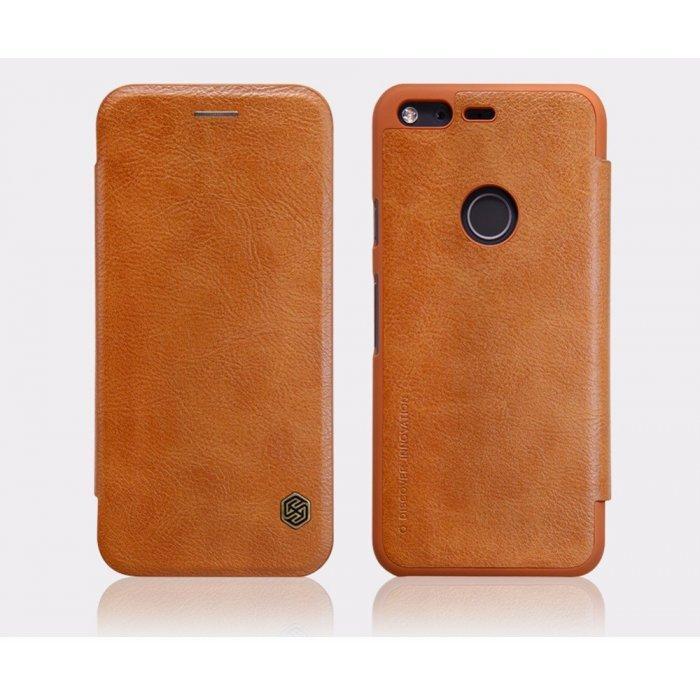 Чехол-книжка Nillkin QIN Leather Case для Google Pixel XL натуральная кожа коричневый