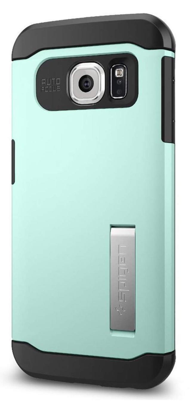 Купить Чехол-накладка Spigen Slim Armor SGP11328 для Samsung Galaxy S6 резина, пластик (Mint)