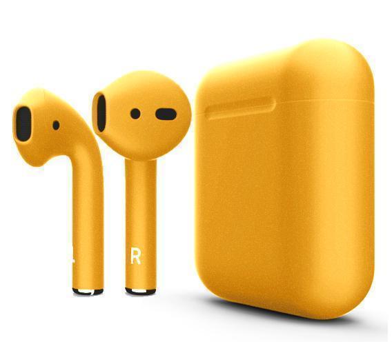 Купить Беспроводные Bluetooth cтерео-наушники Apple AirPods Matte Gold