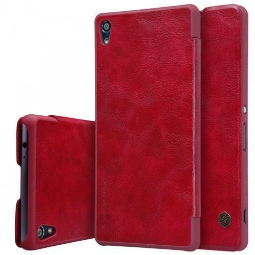 Чехол-книжка Nillkin QIN Leather Case для Sony Xperia XA Ultra /Ultra Dual натуральная кожа красныйдля Sony<br>Чехол-книжка Nillkin QIN Leather Case для Sony Xperia XA Ultra /Ultra Dual натуральная кожа красный<br>