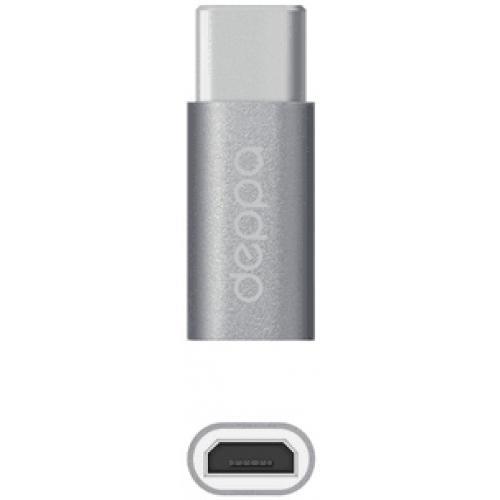 Адаптер Deppa Type-C/micro USB графитовый (73116)Кабели-адаптеры (Type-C)<br>Адаптер Deppa Type-C/micro USB графитовый (73116)<br>