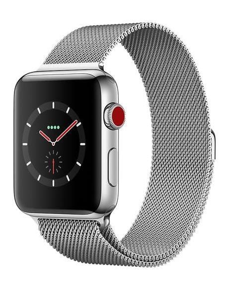 Купить Apple Watch Series 3 38mm Cellular Stainless Steel Case with Milanese Loop (MR1N2)