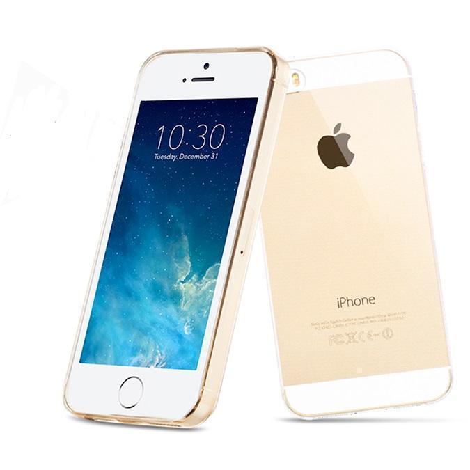 Чехол-накладка Hoco Light Series для Apple iPhone SE/5S/5 силиконовый прозрачно-золотойдля iPhone 5/5S/SE<br>Чехол-накладка Hoco Light Series для Apple iPhone SE/5S/5 силиконовый прозрачно-золотой<br>