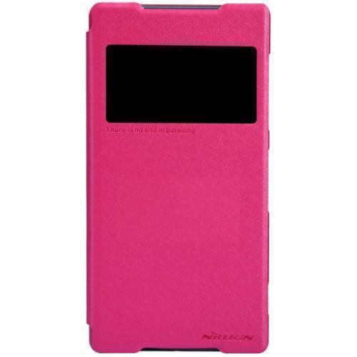 Чехол-книжка Nillkin Sparkle Series для Sony Xperia Z2 пластик-полиуретан розовыйдля Sony<br>Чехол-книжка Nillkin Sparkle Series для Sony Xperia Z2 пластик-полиуретан розовый<br>
