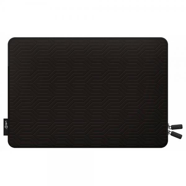"""Защитный чехол LAB.C Pattern Pouch на молнии для ноутбука MacBook Air 11"""" (черный полеуретан)"""