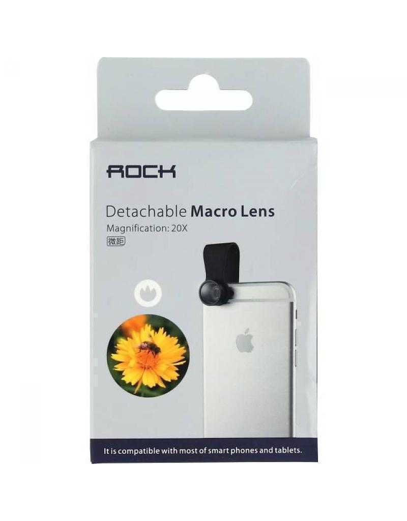 Объектив клипса Rock Macro Lens (макросъемка) для телефонов, смартфонов и планшетов black