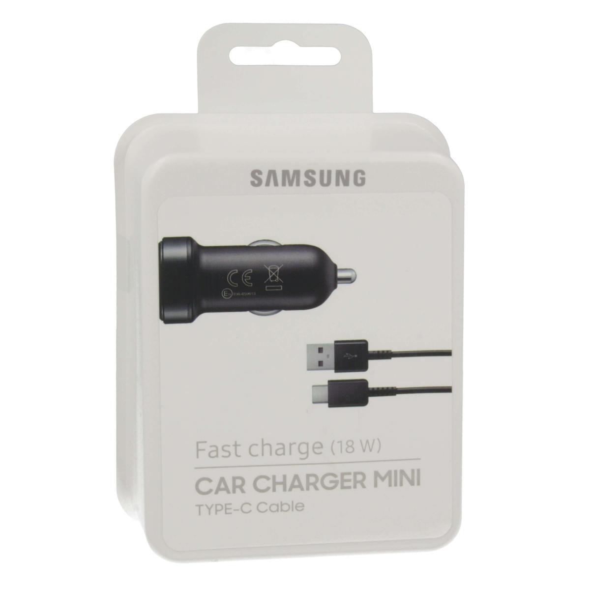 Автомобильное зарядное устройство Samsung (18W) (USB) + кабель (Type-C) 150 см blackАвтомобильные зарядные устройства<br>Автомобильное зарядное устройство Samsung (18W) (USB) + кабель (Type-C) 150 см black<br>