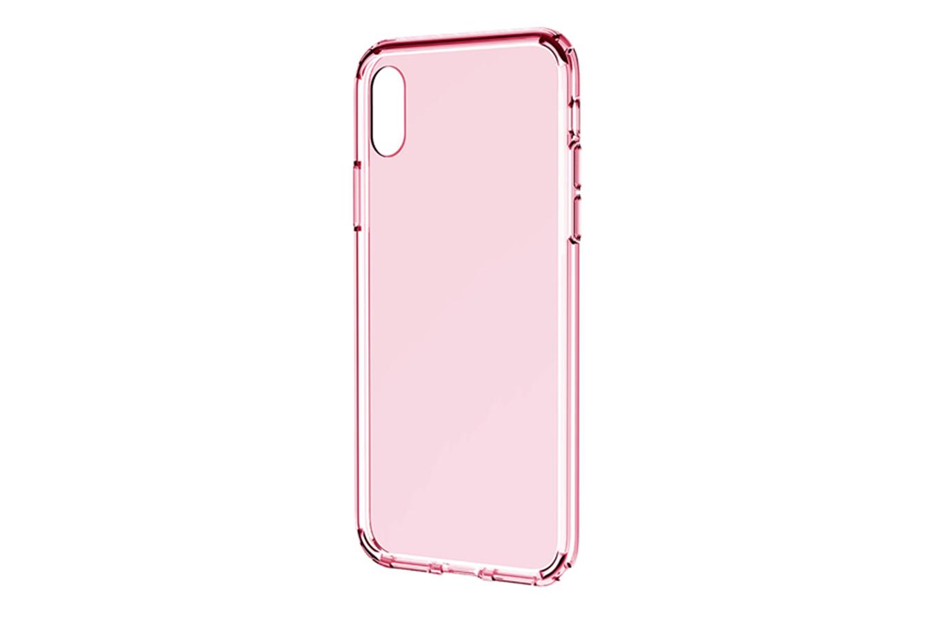 Купить Чехол-накладка Baseus для Apple iPhone XS Max силиконовый прозрачный розовый