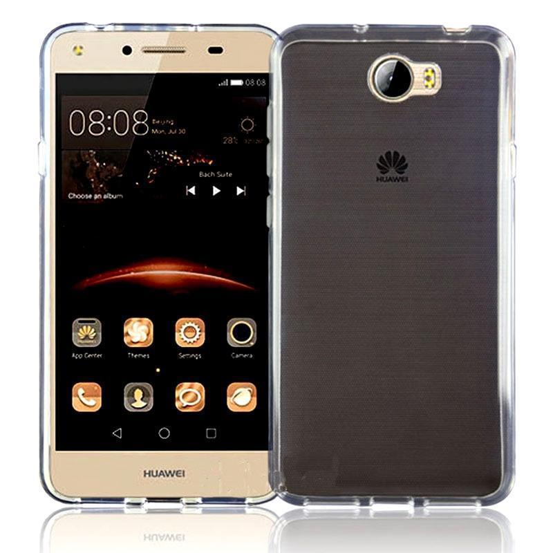 Чехол-накладка для Huawei Honor 3C силиконовый прозрачно-белый