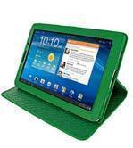 Чехол-книжка для Samsung Galaxy Tab 7.7 (GT-P6800 / GT-P6810) зеленый