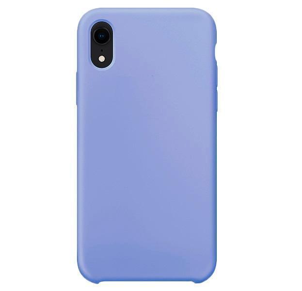 Купить Чехол-накладка Silicone Case для iPhone Xr силиконовый васильковый