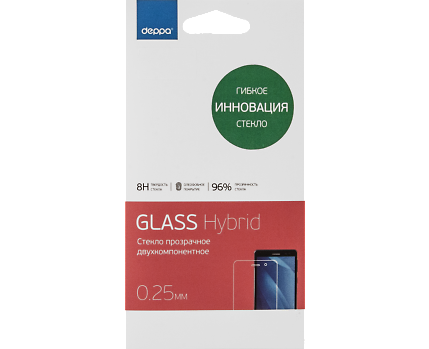 Защитное стекло Deppa Hybrid для Samsung Galaxy J5 Prime (SM-G570) прозрачное антибликовоедля Samsung<br>Защитное стекло Deppa Hybrid для Samsung Galaxy J5 Prime (SM-G570) прозрачное антибликовое<br>