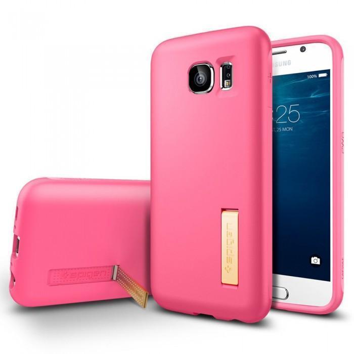 Чехол-накладка Spigen SGP11437 Capsule Solid для Samsung Galaxy S6 Azalea Pinkдля Samsung<br>Чехол-накладка Spigen SGP11437 Capsule Solid для Samsung Galaxy S6 Azalea Pink<br>