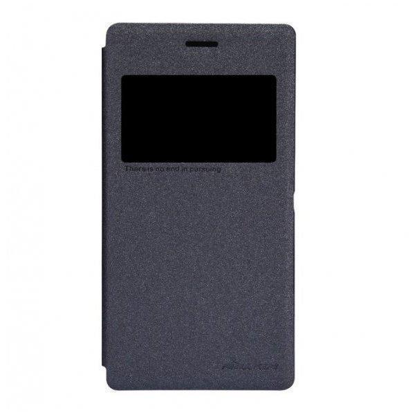 Чехол-книжка Nillkin Sparkle Series для Sony Xperia M2 (D2302/D2303) пластик-полиуретан черныйдля Sony<br>Чехол-книжка Nillkin Sparkle Series для Sony Xperia M2 (D2302/D2303) пластик-полиуретан черный<br>