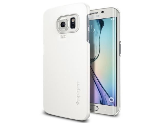 Чехол-накладка Spigen Thin Fit SGP11409 для Galaxy S6 Edge (белый)для Samsung<br>Чехол-накладка Spigen Thin Fit SGP11409 для Galaxy S6 Edge (белый)<br>