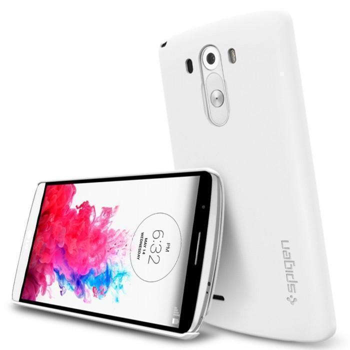 Чехол-накладка Spigen Ultra Fit для LG G3 / G3 Dual / D855 / D858 (пластиковый) White (SGP10860)для LG<br>Чехол-накладка Spigen Ultra Fit для LG G3 / G3 Dual / D855 / D858 (пластиковый) White (SGP10860)<br>