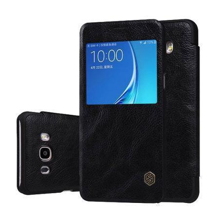 Чехол-книжка Nillkin QIN Leather Case для Samsung Galaxy J5 (2016) SM-J510 натуральная кожа черный