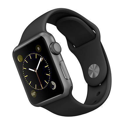 Купить со скидкой Apple Watch Series 1 38mm Space Gray Aluminum Case with Black Sport Band MP022