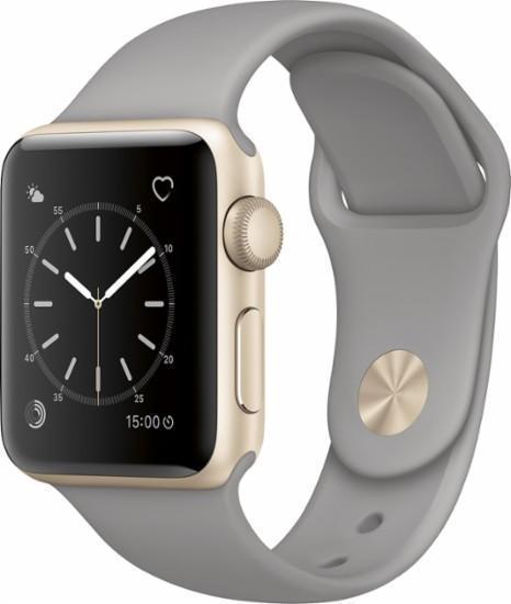 Apple Watch Series 2 38mm Gold Aluminum Case Concrete Sport Band MNP22Apple Watch<br>Apple Watch Series 2 38mm Gold Aluminum Case Concrete Sport Band MNP22<br>