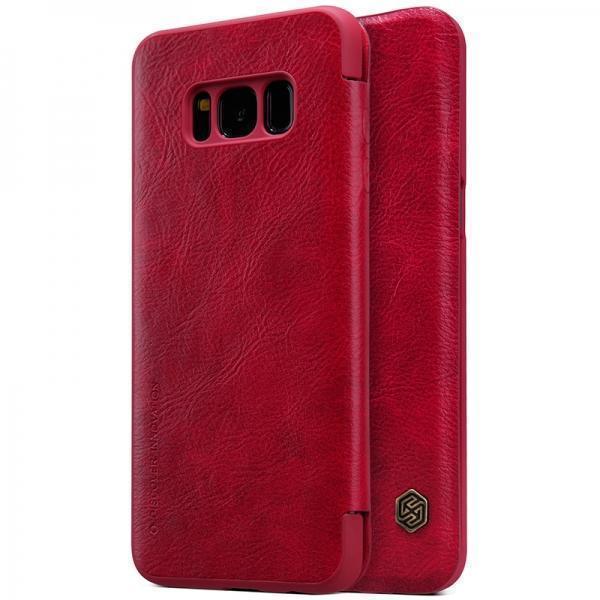 Чехол-книжка Nillkin QIN Leather Case для Samsung Galaxy S8+ (SM-G955) натуральная кожа (Red)для Samsung<br>Чехол-книжка Nillkin QIN Leather Case для Samsung Galaxy S8+ (SM-G955) натуральная кожа (Red)<br>
