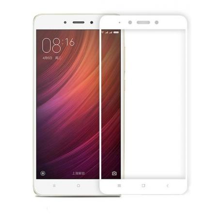 Защитное стекло Glass PRO (Full) Screen для Xiaomi Redmi 4A цветное белая рамкадля Xiaomi<br>Защитное стекло Glass PRO (Full) Screen для Xiaomi Redmi 4A цветное белая рамка<br>