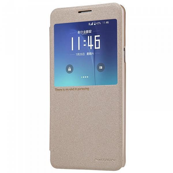 Чехол-книжка Nillkin Sparkle Series для Samsung Galaxy Note 5 пластик-полиуретан золотойдля Samsung<br>Чехол-книжка Nillkin Sparkle Series для Samsung Galaxy Note 5 пластик-полиуретан золотой<br>
