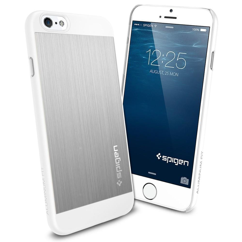 Чехол-накладка Spigen Aluminum Fit для Apple iPhone 6/6S пластик-алюминий Satin Silver (SGP10947)для iPhone 6/6S<br>Чехол-накладка Spigen Aluminum Fit для Apple iPhone 6/6S пластик-алюминий Satin Silver (SGP10947)<br>