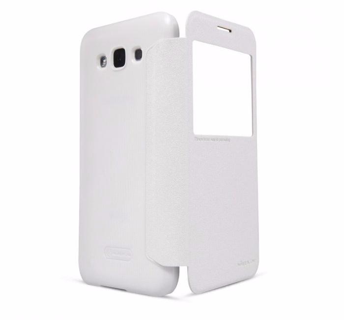 Чехол-книжка Nillkin Sparkle Series для Samsung Galaxy E7 SM-E700 пластик-полиуретан белый