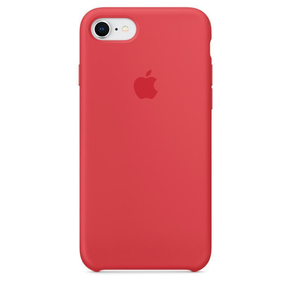 Купить Чехол-накладка Silicone Case для iPhone 7/8 силиконовый (ярко-розовый)